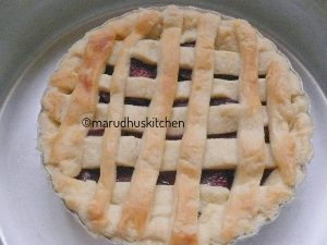 easy fresh cherry pie recipe /marudhuskitchen