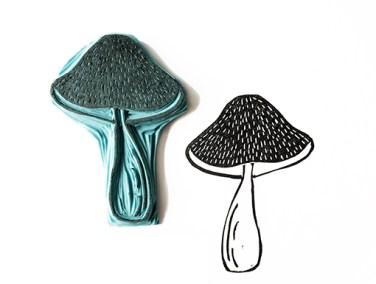paddenstoel-stempel