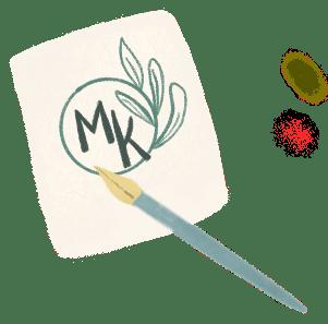voorbeeld van illustratief logo met inktpen