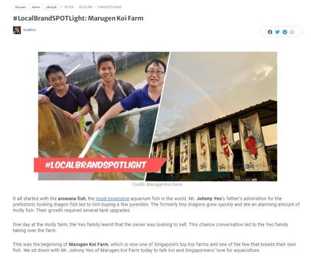 Local Brand Spotlight - Marugen Koi Farm