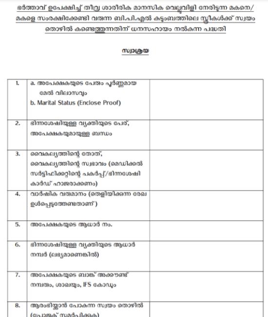 kerala swasraya scheme application form pdf download online