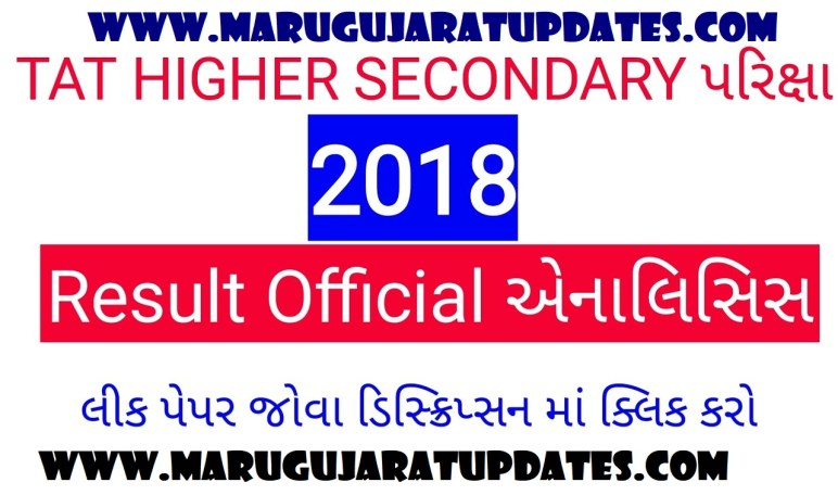 TAT HIGHER SECONDARY EXAM 2018 RESULT ANALYSIS BY SEB || TAT EXAM OFFICIAL ANALYSIS