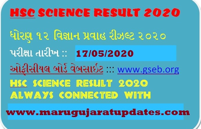 GSEB HSC SCIENCE RESULT 2020/ GSEB 12TH SCIENCE RESULT 2020