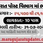 Recruitment in Gujarat Postal Department