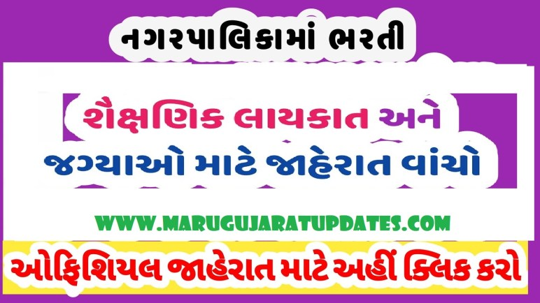 Visnagar Nagarpalika Recruitment for Apprentice Posts 2020,