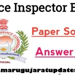 GPSC POLICE INSPECTOR Question paper Paper Solution