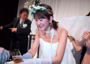 斉藤ふみの結婚式の画像。旦那?
