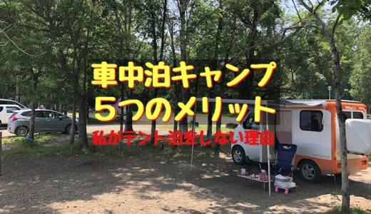 【雑記】車中泊キャンプ5つのメリット〜私がテント泊をしない理由〜