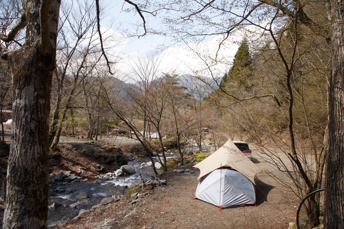 春のソロキャンプはまたしても道志の森