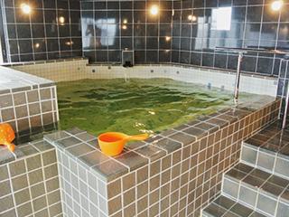 これが水風呂。ロウリュ時には氷が追加されます。