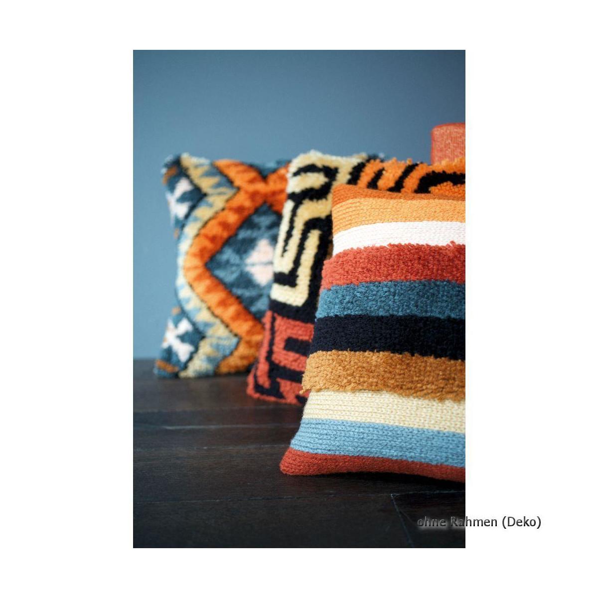 vervaco latch hook kit cushion boho kuba cloth diy