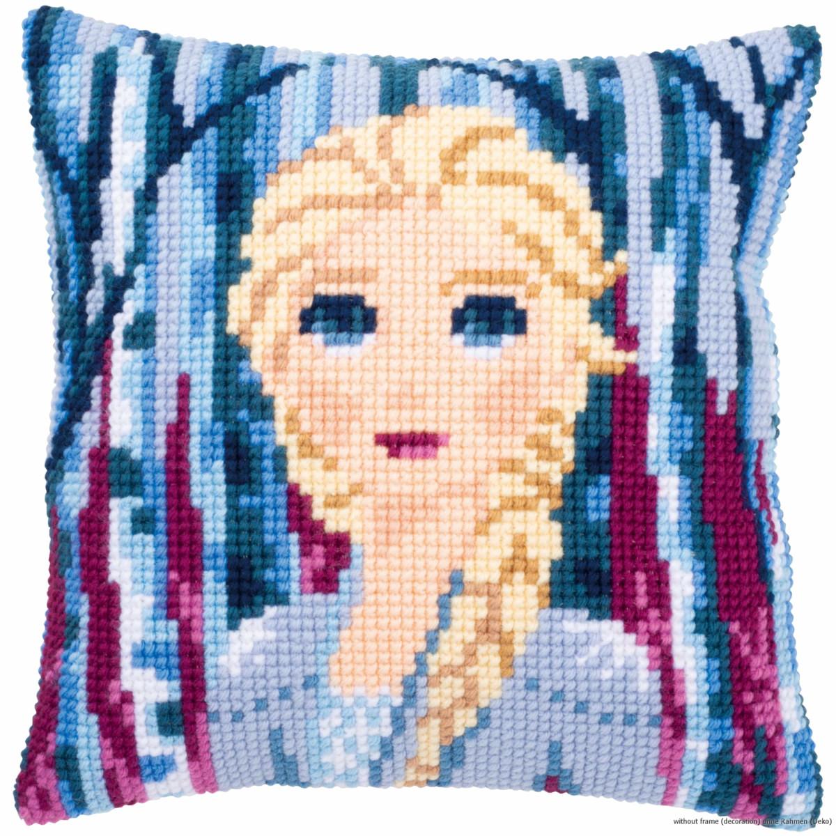vervaco cross stitch kit cushion disney frozen 2 elsa stamped diy