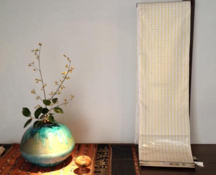 春の大島紬
