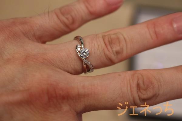 ブリリアンス+ダイヤモンド指輪