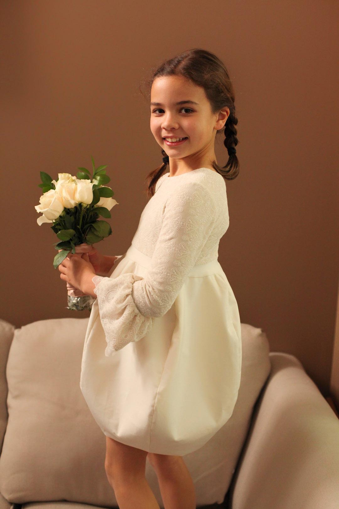 Flower Girl Dress Lace Embroidery Bubble Marusya Marusya
