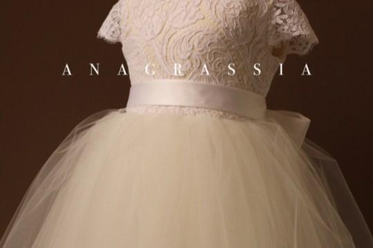 da8e74473d Anagrassia Ivory Alencon Lace First Holy Communion Custom Dress and Flower  Girl dress for wedding