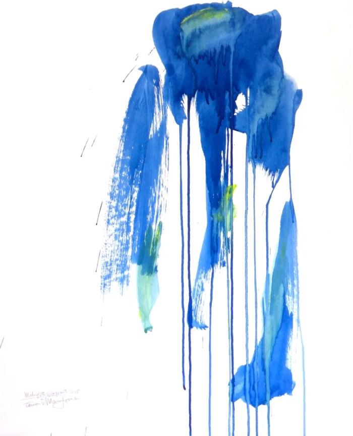 Midnight Elephant, painting, 2015 ©Tomomi Maruyama