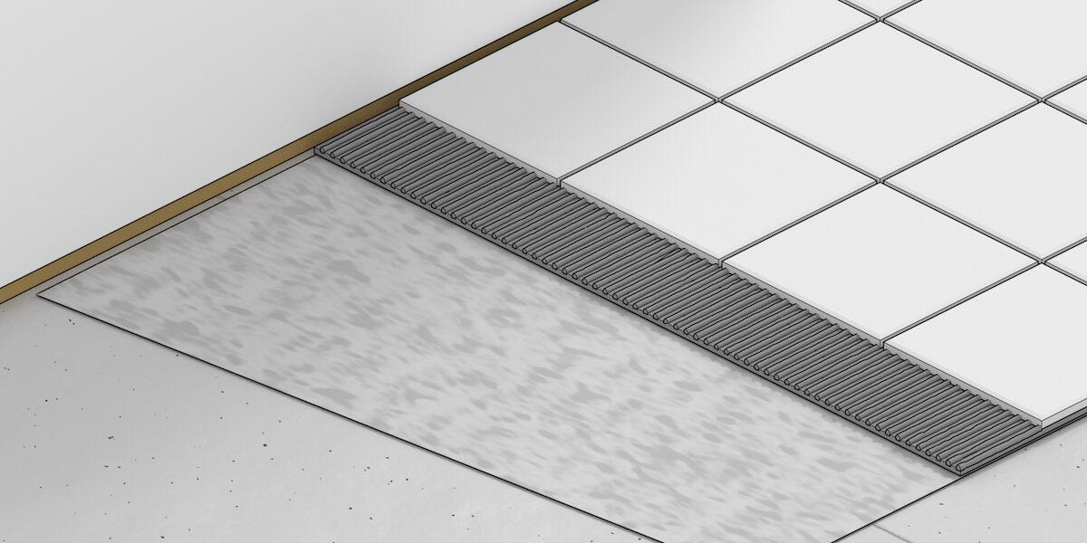 pro builder preparing floor for tile