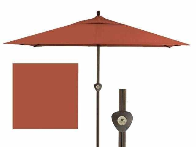 outdoor patio treasure garden 11 ft x 11 ft auburn aluminum easy track umbrella et2sq00 6478687