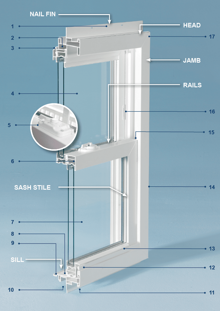 Double Hung Window Parts Diagram : double, window, parts, diagram, Detailed, Diagram, Common, Terms, Viwinco, Windows