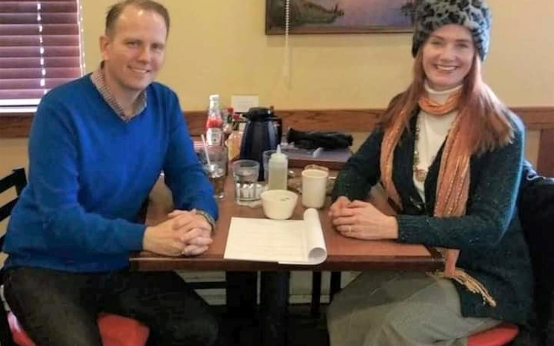 Jamie Parsley and Michelle Gelinske at the Cajun Cafe, Fargo, around 2016. Special to The Forum