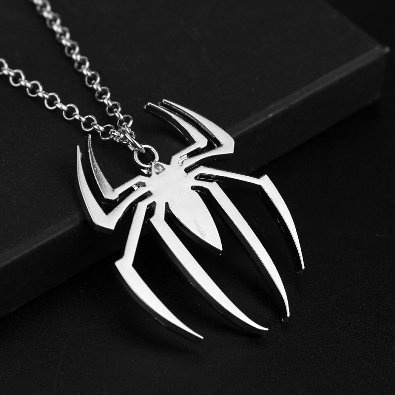 Spider man logo pendant necklace marvel goodies spider man logo pendant necklace aloadofball Image collections