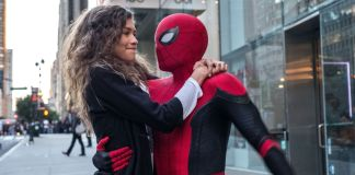 Tom Holland as Spider-Man in Spider-Man: Far From Home set photos