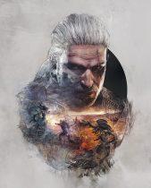 Poster du jeu vidéo The Witcher 3: Wild Hunt avec Geralt de Riv