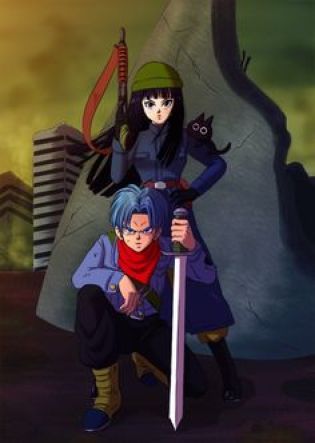 Image de Dragon Ball Super avec Trunks et Mai