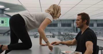 Photo de l'alchimie entre les acteurs du film Passengers
