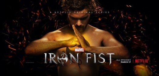 Bannière de la série Marvel/Netflix, Iron Fist avec Finn Jones