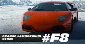 Photo du Lambo dans le film Fast & Furious 8
