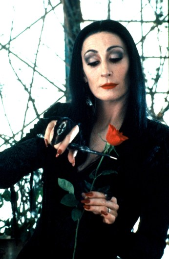 Nov 10, 2000; Hollywood, CA, USA; Actor ANJELICA HUSTON as Morticia Addams in Orion Pictures' 'The Addams Family'. Mandatory Credit: Photo by Melinda Sue Gordon/Orion Pictures/ZUMA Press. (©) Copyright 2000 by Courtesy of Orion, HANDOUT