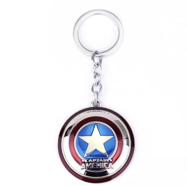 Captain America Initial Shiny Shield Keychain - Marvelofficial.com