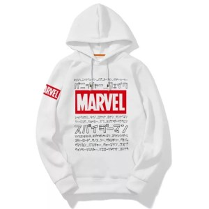 Marvel Geek White Hoodie - Marvelofficial.com
