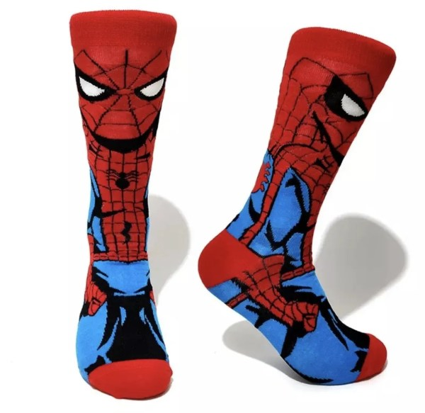 Marvel Socks - Marvel Comics Spider-Man Crew Socks - Marvelofficial.com