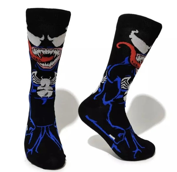 Marvel Socks - Marvel Comics Venom Crew Socks - Marvelofficial.com