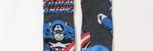 Marvel Socks - Marvel Comics Captain America Crew Socks - Marvelofficial.com