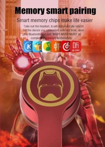 Smart pairing Marvel Foldable Wireless Headset - Iron Man - Marvelofficial.com