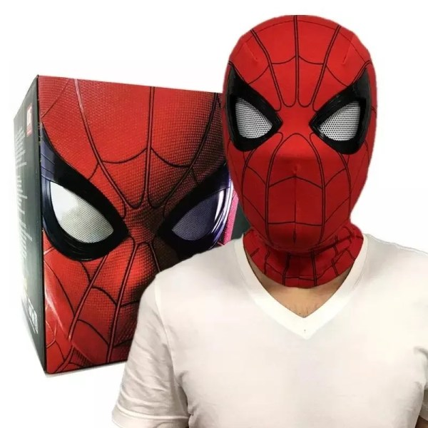 Prop Replica Spider Man Mask with Moving Lenses scale 1:1 Lifesize - Marvelofficial.com