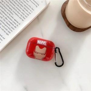 AirPods Pro plastic case Iron Man - mavelofficial.com