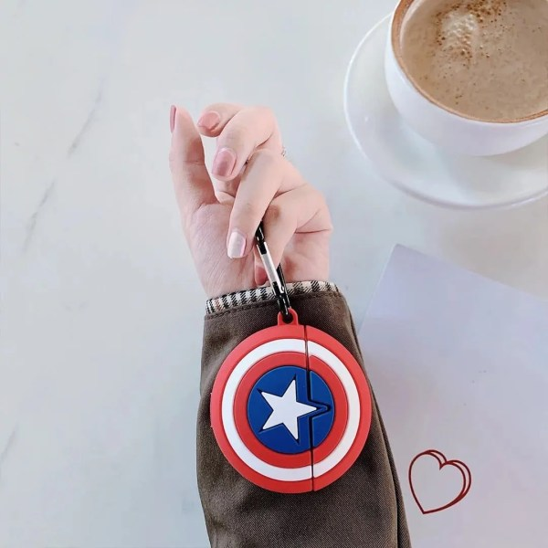 Airpods pro Captain america shield - marvel official - marvelofficial.com