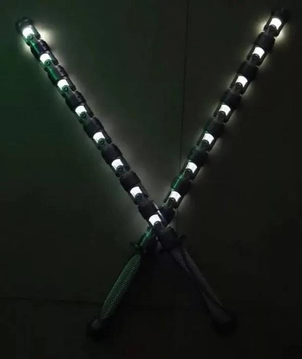Black widow batons light up - marvelofficial.com