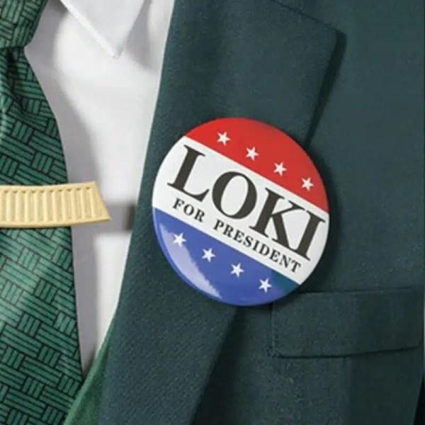 Loki For President Pin Badge - marvelofficial.com
