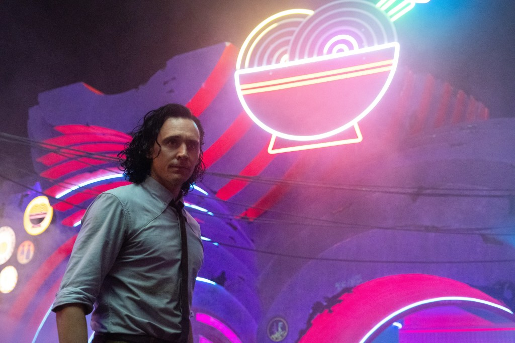 """Tom Hiddleston as Loki in in Marvel Studios' Loki episode 3 """"Lamentis"""" Photo courtesy of Marvel Studios. @Marvel Studios 2021. All Rights Reserved."""