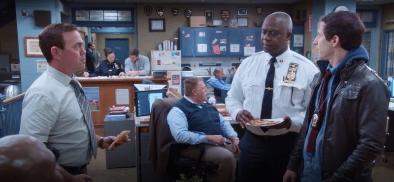 """Charles Boyle, Raymond Holt, and Jake Peralta in Brooklyn Nine Nine's """"Show Me Going"""" exclusively on NBC"""