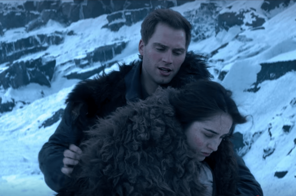 """Nina Zenik and Matthias Helvar in Shadow and Bone's """"The Heart is an Arrow"""" exclusively on Netflix"""