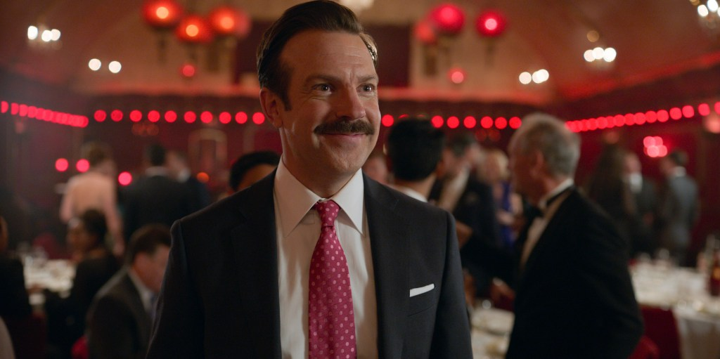 """Jason Sudeikis in """"Ted Lasso,"""" """"For the Children"""" now streaming on Apple TV+."""