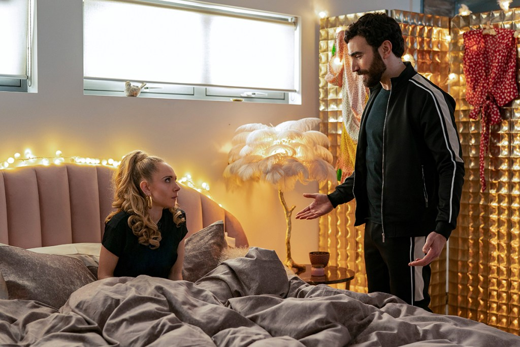 """Juno Temple and Brett Goldstein in """"Ted Lasso"""" season two, now streaming on Apple TV+ Episode: """"Lavender"""""""