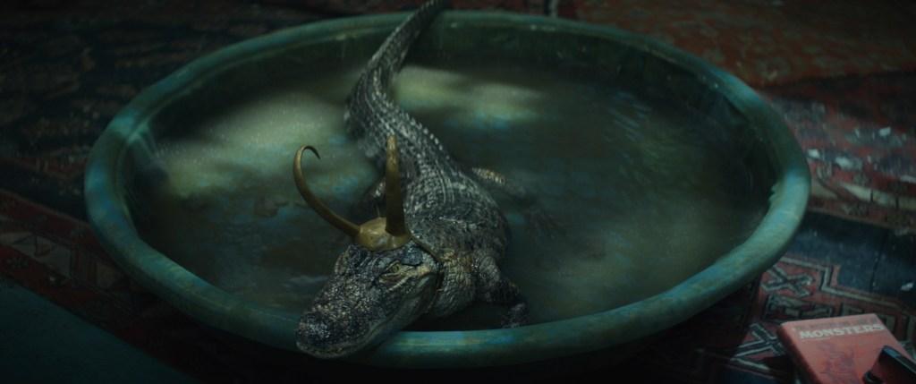 "Alligator Loki in Loki's ""Journey into Mystery"" ©Marvel Studios 2021. All Rights Reserved"